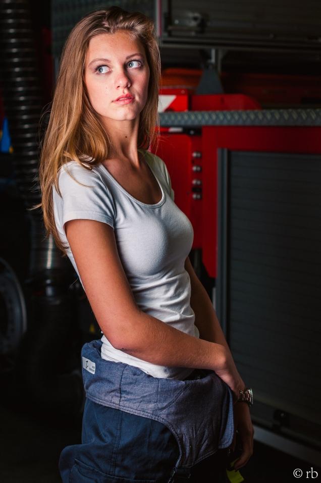 Fire brigades girl.